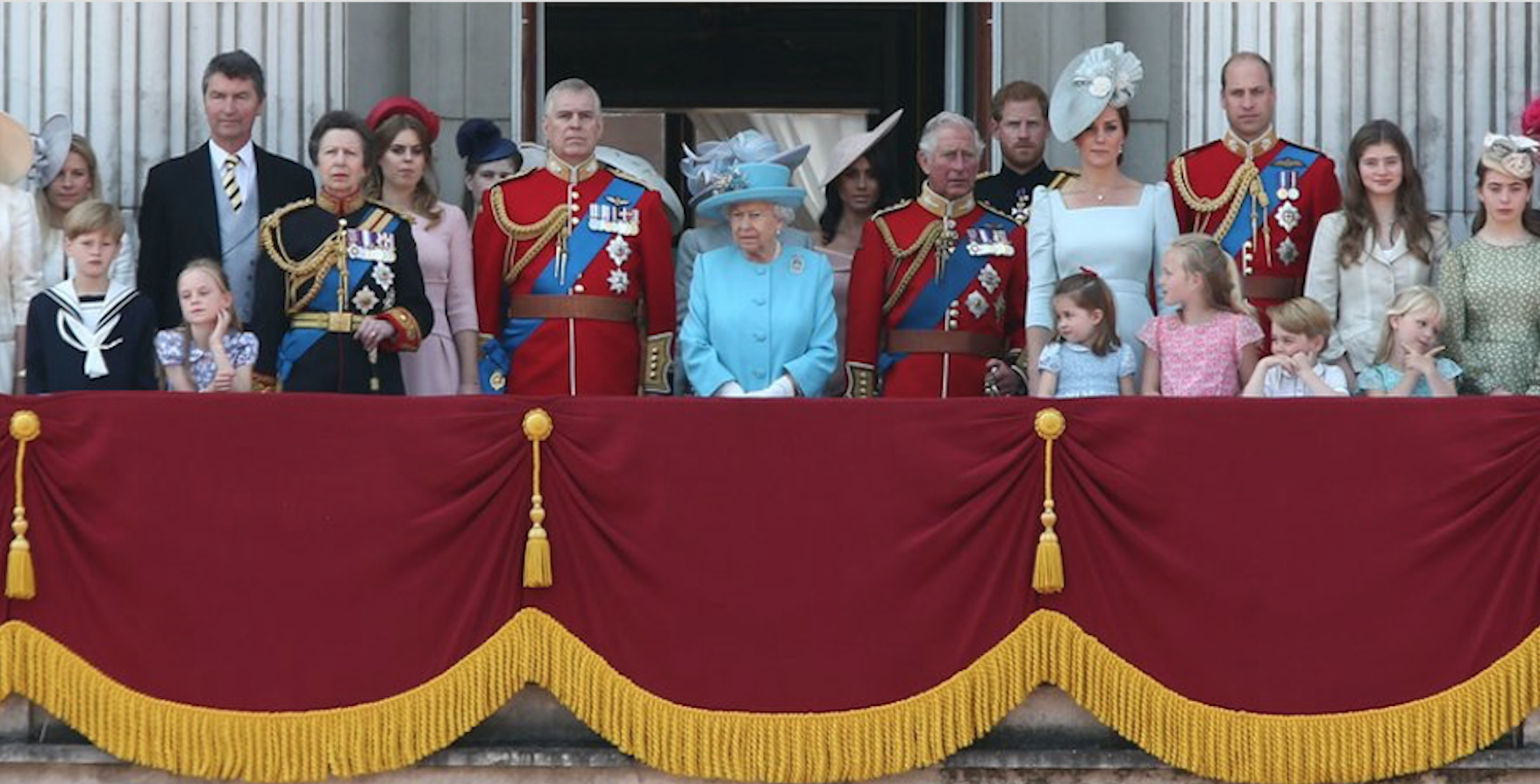 Harry and Meghan on the balcony with the royals - Trooping the Colours 2018 Queen birthday